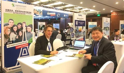 Etienne Saur, responsable des relations internationales d'Agreenium accueillantDr Hongzhi SUN, directeur des relations Internationales de la Northeast Forestry University